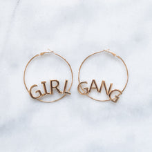 Load image into Gallery viewer, Girl Gang gold hoop earrings
