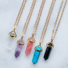 Load image into Gallery viewer, 'Wonder' crystal necklaces - 5 colors
