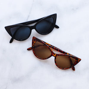 'Catty and Bratty' tortoise cat eye sunglasses