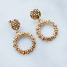 Load image into Gallery viewer, Lola round gold earrings
