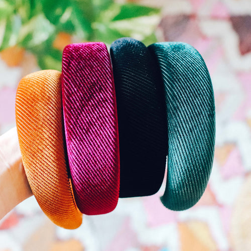 'Aluma' corduroy thick statement headband - 4 colors available