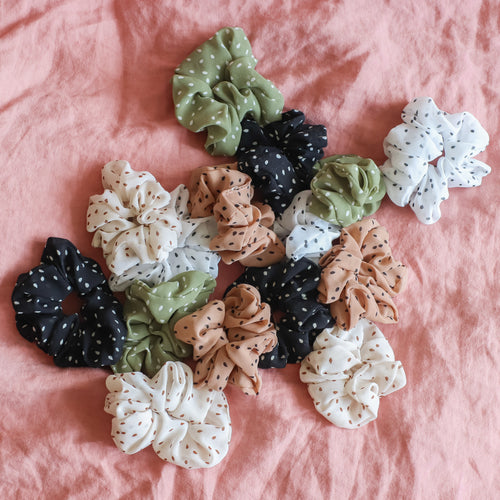'Lily' dotted scrunchies - 5 colors available