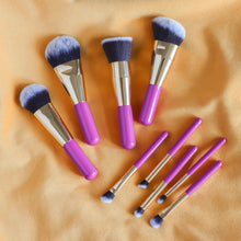 Load image into Gallery viewer, 9 piece short pink brush set