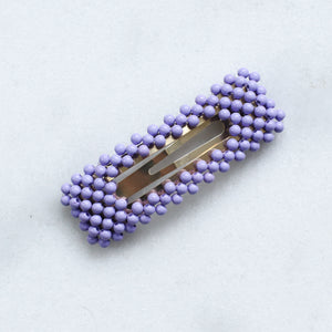 'Nyma' colorful beaded hair clip - 5 colors available