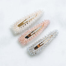 Load image into Gallery viewer, 'Amélie' crystal beaded hair clips - set of three