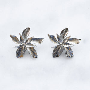 'Eve' silver flower earrings