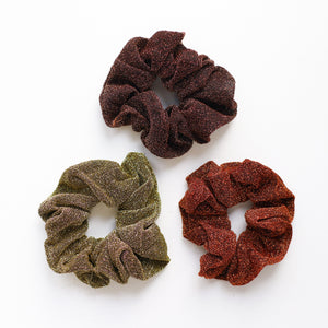 'Amber' glittery scrunchies - 3 colors available