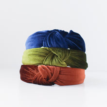 Load image into Gallery viewer, 'Willow' velvet twist headband - 3 colors available