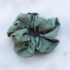 Khaki green scrunchie