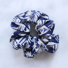 Load image into Gallery viewer, Ivy blue printed scrunchie