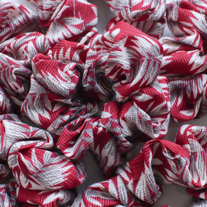Ivy red printed scrunchie