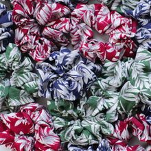 Load image into Gallery viewer, Ivy red printed scrunchie