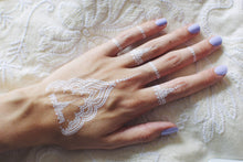 Load image into Gallery viewer, White henna flash tattoos - 4 styles available