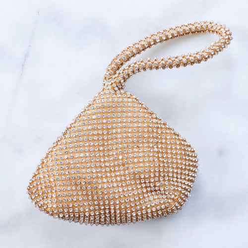 Cleo gold crystal mini bag
