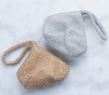 Load image into Gallery viewer, Cleo silver crystal mini bag