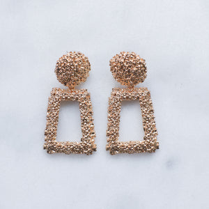 Lana patterned gold knocker earrings
