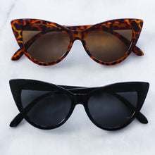 Load image into Gallery viewer, 'Catty and Bratty' black cat eye sunglasses