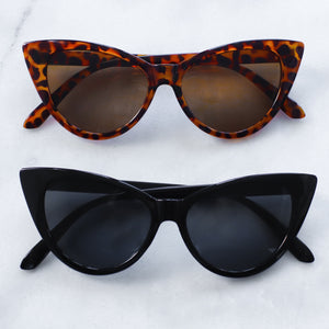 'Catty and Bratty' black cat eye sunglasses