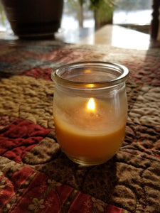 Recycled Yogurt Jar Candle