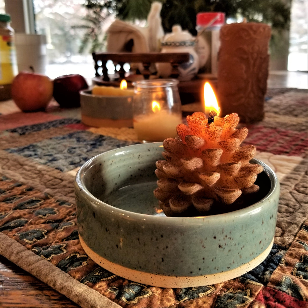 Clay Candle Plate
