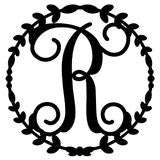Single-Letter Monogram Wall Art