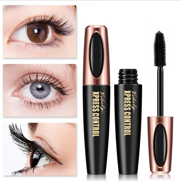 4D SILK FIBER EYELASHES THICK LENGTHENING BLACK MASCARA