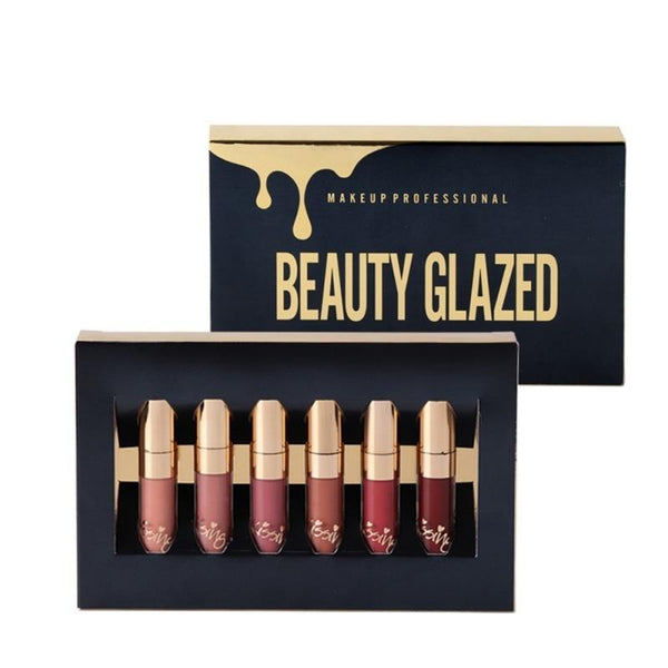 VVIP BEAUTY GLAZED 6PCS/SET LIQUID LIPSTICK
