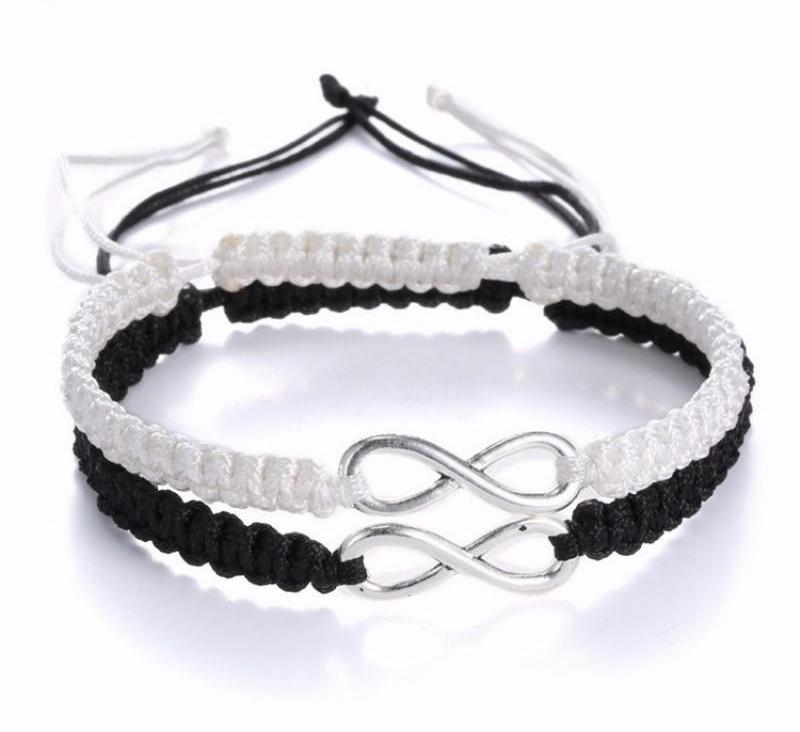 Infinite Love Bracelet White And Black