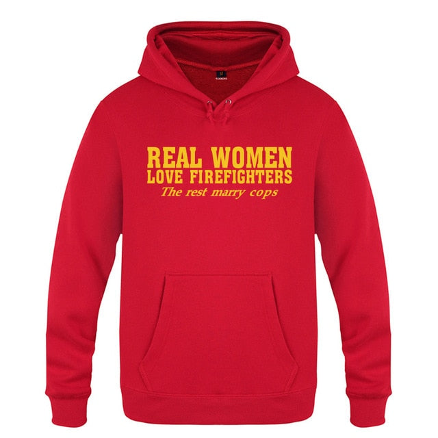 Real Women Love Firefighters Sweatshirt-Trend This