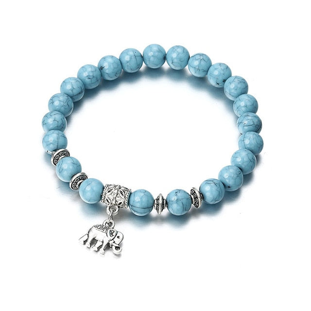 Blue Marble Beaded Bracelets - Trend-This