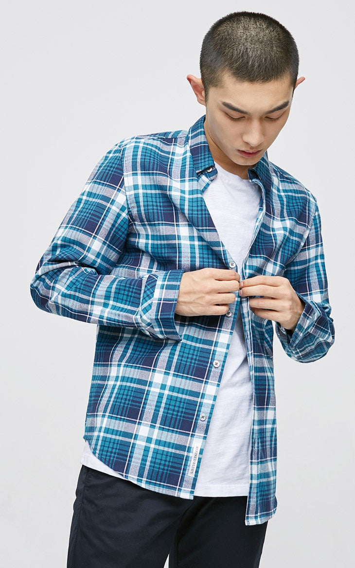 Plaid Long Sleeve-Trend This