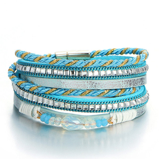 Vintage Multi-Layer Turquoise Bracelet-Trend This