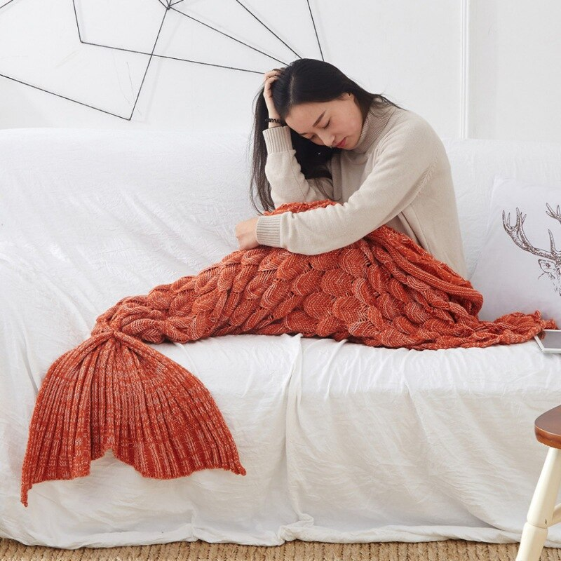 Handmade Mermaid Tail Blanket-Trend This
