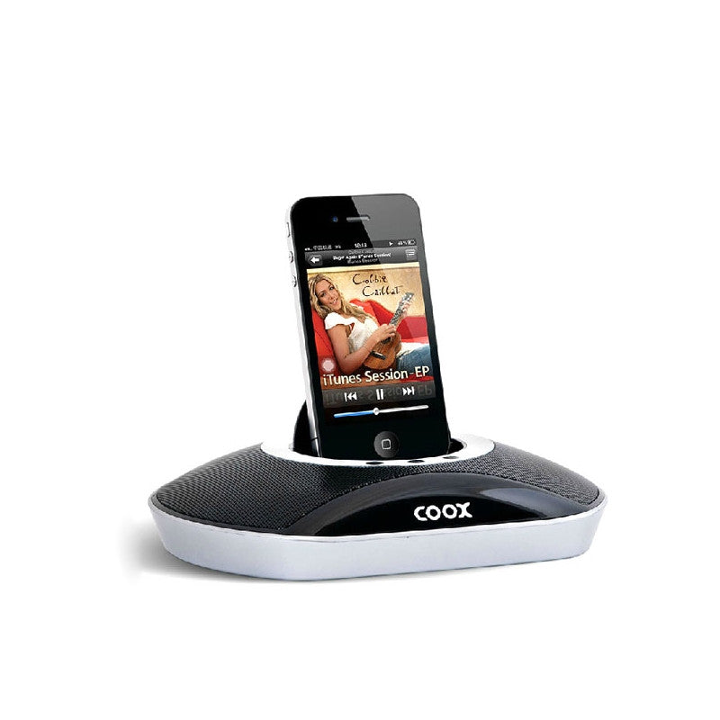 COOX M1 Desktop Audio Speaker with 3.5mm Audio-in for iPhone 4 /iPhone 4S /iPod /Cellphone /PC /MP3 (Black)