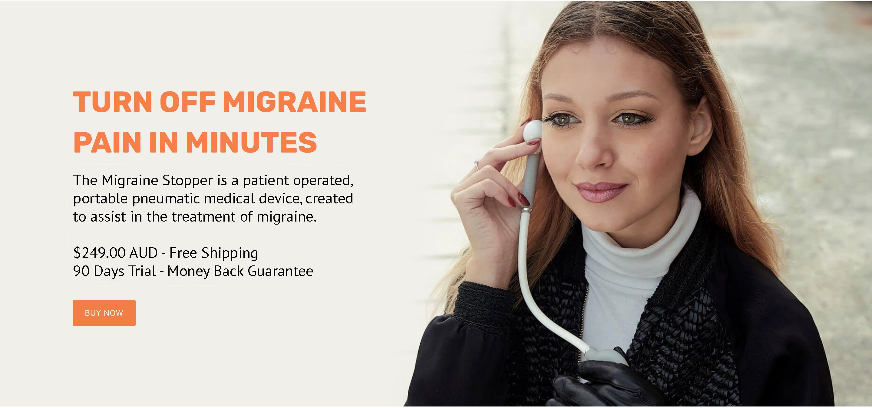 Turn off migraine pain in minutes