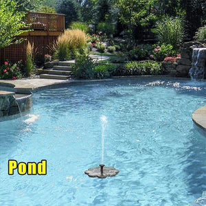Solar Powered Fountain [Eco-Friendly] - OxyLand