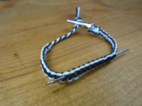 Black White Dabber Roach Clip Hemp Bracelet - Beach Hemp Jewelry