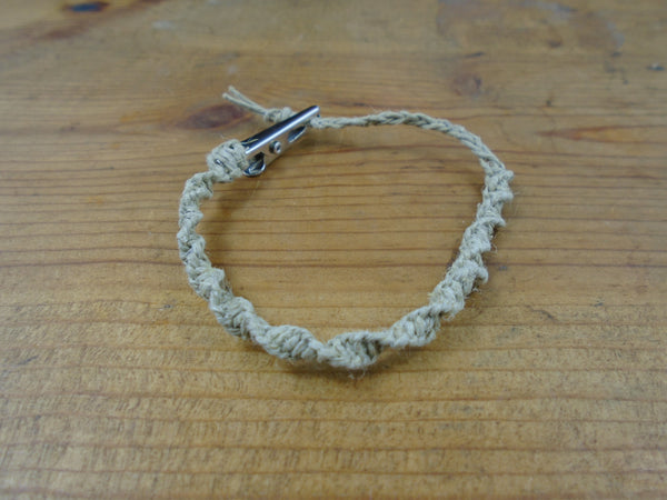 Twisted Roach Clip Macrame Hemp Bracelet - Beach Hemp Jewelry