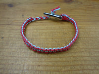 Red Sky Blue Roach Clip Hemp Bracelet Reversible - Beach Hemp Jewelry