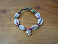 Ying Yang and Shells Roach Clip Hemp Bracelet - Beach Hemp Jewelry