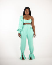 BUCKLE UP Pants - Teal