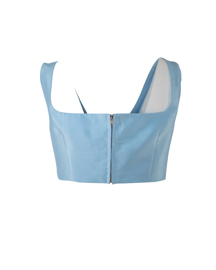 Blue Me Away  - Crop Top (Ships 8-4-20)