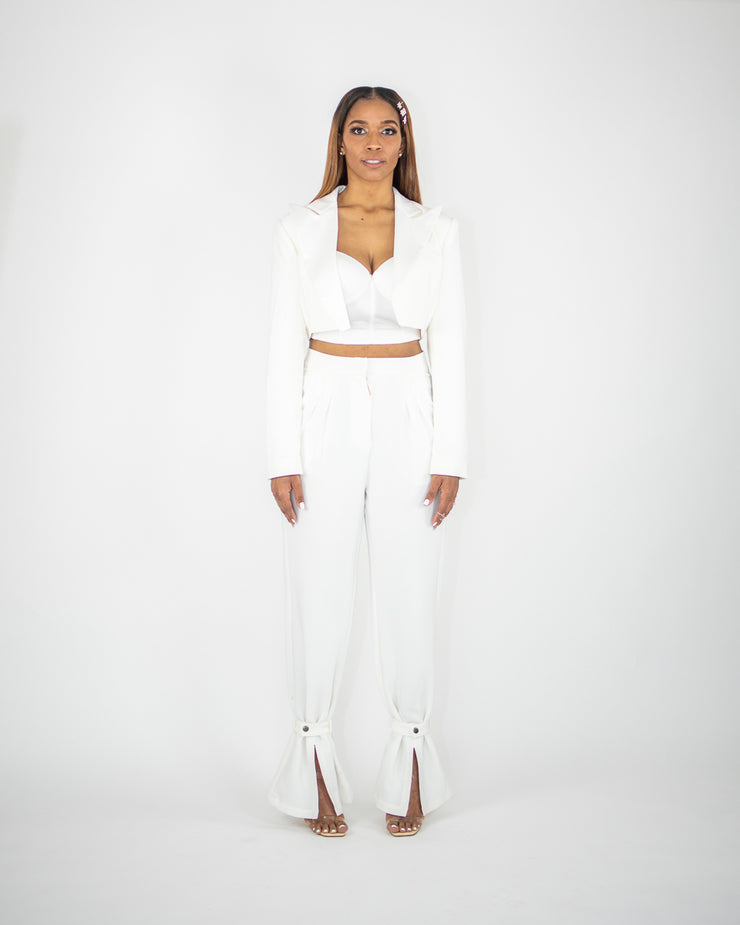 BUCKLE UP Pants - Ivory