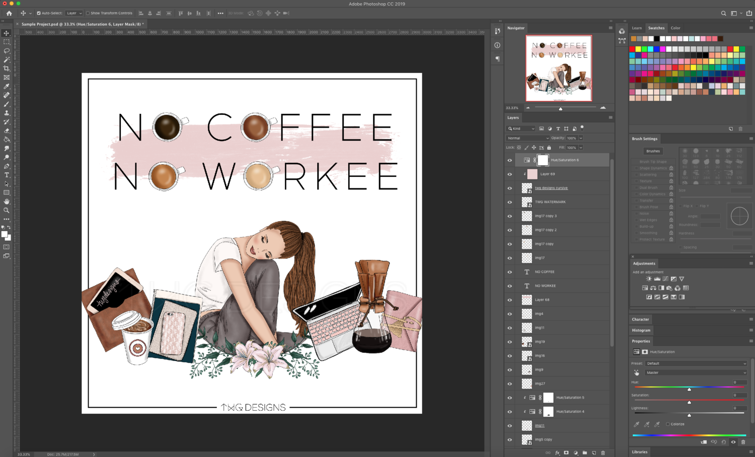 photoshop document working with coffee clipart png files