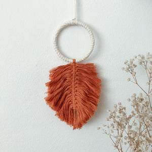 Macrame Feather - Mini Wall Accessory