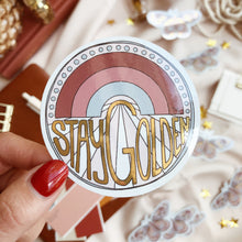Load image into Gallery viewer, Stay Golden - Die Cut Sticker