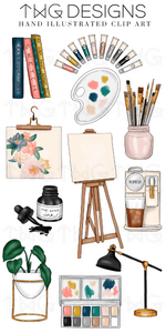 Art Studio Clip Art Collection