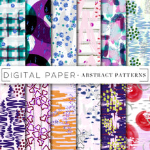 Load image into Gallery viewer, Digital Paper, Colorful Abstract Digital Paper Bundle - TWG Designs