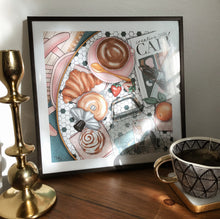 Load image into Gallery viewer, Print, Cafe Flatlay Print - TWG Designs