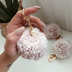 Cotton Candy - Pom Pom Keychain Charm